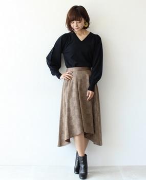 チェックフレアースカート3.jpg