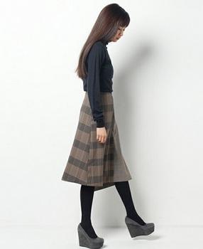 チェックフレアースカート7.jpg