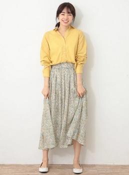 フラワープリントスカート2.jpg