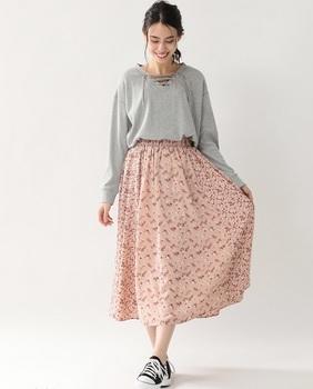 フラワープリントスカート4.jpg