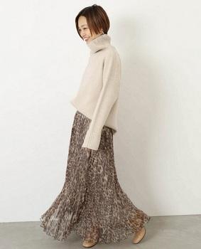 レオパード柄フレアースカート4.jpg