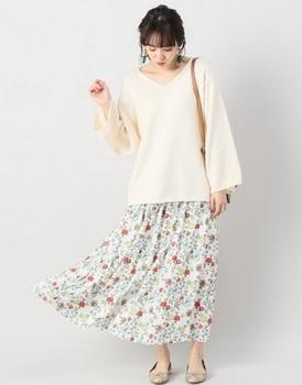 花柄ロングスカート4.jpg
